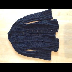 BB Dakota Black Cable Knit Sweater Sz S